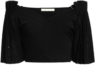 Jonathan Simkhai Cropped Off-the-shoulder Sequin-embellished Bandage Top