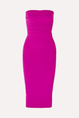 Alex Perry Dylan Strapless Ruched Crepe Dress - Pink