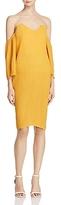 Elliatt Marigold Pleated Off-the-Shoulder Dress