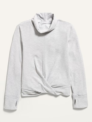 Old Navy Ultra-Soft Breathe ON Mock-Neck Twist-Front Tee for Girls