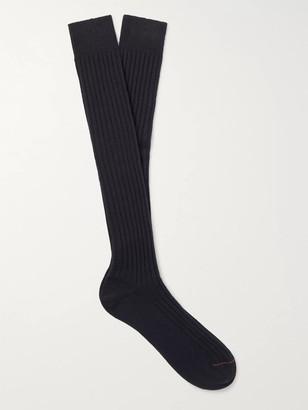 Loro Piana Ribbed Cashmere-Blend Over-The-Calf Socks
