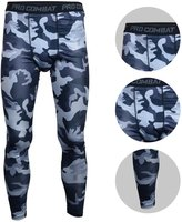 Bifrost Mens Camouflage Sports Running Basketball Compression Tight Leggings Pants(Style: Size:XXXL)