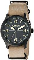 RumbaTime Unisex 18896 Brooklyn Night Hawk Analog Display Japanese Quartz Brown Watch