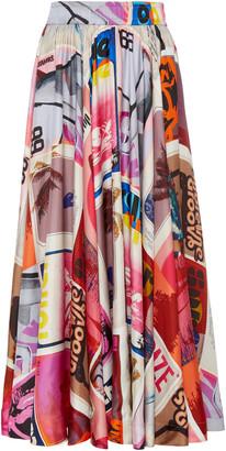 Zimmermann Wavelength Pleated Silk Skirt