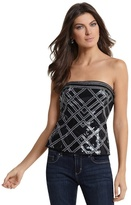 White House Black Market Geo-Print Sequined Bustier