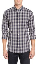 Gant Men's 'Wind Blown' Extra Trim Fit Plaid Oxford Sport Shirt