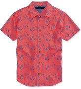 Tommy Hilfiger Crazy Pineapple-Print Cotton Shirt, Big Boys (8-20)
