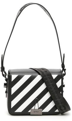 Off-White Mini Diagonal Binder Clip Bag