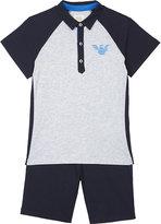 Armani Junior Logo Polo Shirt And Shorts Set 4-16 Years