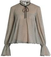 Saloni Tyler polka-dot silk-georgette blouse