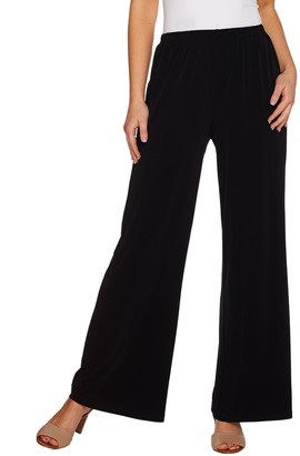 Joan Rivers Classics Collection Joan Rivers Petite Length Pull-on Jersey Knit Palazzo Pants