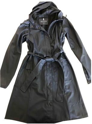 Rains Blue Trench Coat for Women