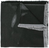 Givenchy fringed two-tone scarf