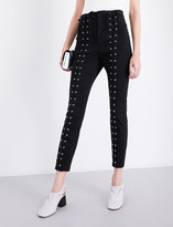 A.L.C. Kingsley lace-up stretch-cotton trousers