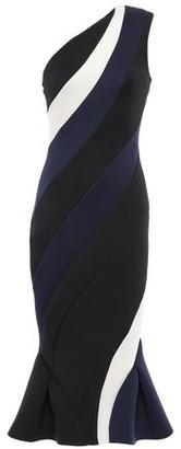Rachel Gilbert Rumer One-shoulder Color-block Neoprene Midi Dress