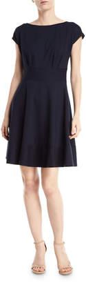 Kate Spade Fiorella Ponte Short-Sleeve Day Dress