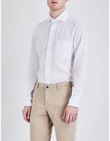 Drakes Regular-fit Linen Shirt