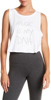 Steve Madden Music Is My DNA Front Graphic Print Tank