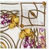 Versace floral baroque print scarf
