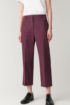 Cos Cropped Straight Cotton Pants