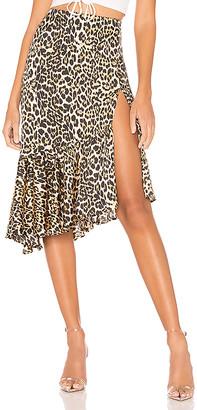 superdown Gabriela Ruffle Midi Skirt