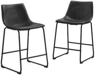 Saracina Home Faux Leather Counter Stools (Set Of 2)