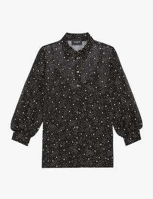 The Kooples Star-print crepe shirt