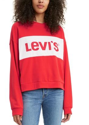 Levi's Women's Madison Colorblock Logo Sweatshirt