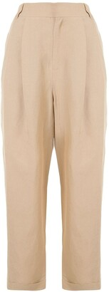 Izzue Cropped Straight-Leg Trousers