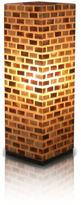 Jeffan Valentti 25 in. Pearlescent Table Lamp With Natural Shells Arranged in Brick Design
