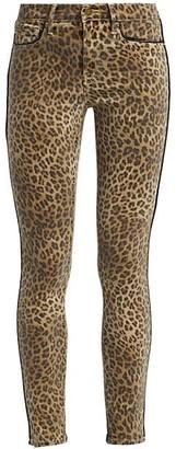 Frame Jeanna Le Skinny Leopard Print Jeans