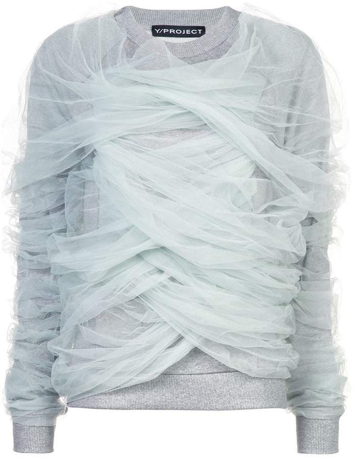 Y/Project Y / Project tulle wrapped sweatshirt