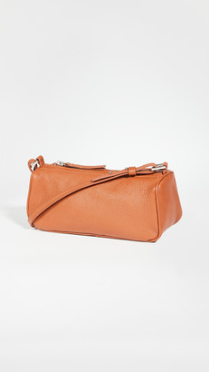 BY FAR Eve Cognac Grained Leather Bag
