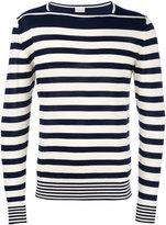 Moncler striped long sleeve sweater - men - Cotton - M