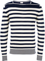 Moncler striped long sleeve sweater - men - Cotton - XL