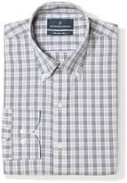 Buttoned Down Amazon Brand Men's Slim Fit Plaid Dress Shirt Supima Cotton Non-Iron