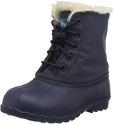 Native Jimmy Faux Fur Infant Girls Winter Boots Navy 7