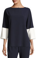 Max Mara 3/4-Sleeve Colorblock Tunic