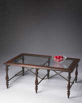 Horchow Mixed-Media Coffee Table
