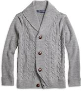 Brooks Brothers Merino Wool Shawl Cable Cardigan