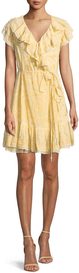Needle & Thread Anglaise Georgette Sleeveless Mini Wrap Dress