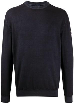 Paul & Shark Logo-Patch Crew Neck Sweater