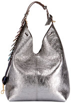 Black Hobo Bag Silver Hardware - ShopStyle