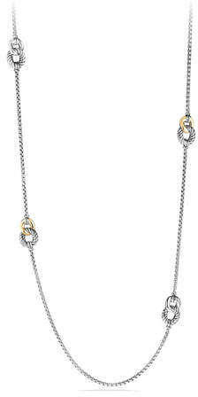 David Yurman Four Station Necklace with 18k Gold