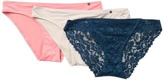 Lucky Brand Lace Micro Bikini - Pack of 3
