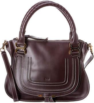 Chloé Marcie Double Strap Leather Satchel
