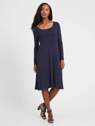 Banana Republic Petite Scoop-Neck Knit Dress