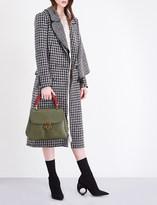 Burberry Ruffle-overlay wool coat