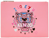 Kenzo Pink Limited Edition 'Tiger x I Love You' A4 Pouch