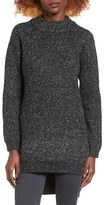 DREAMERS BY DEBUT Mock Neck Marled Tunic
